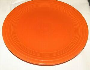 """Vintage FIESTA Fiestaware Original RED No Fiesta Mark 9"""" Dinner Plate Dry Foot"""