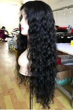 "18"" 7A Brazilian Curly Wave 130% Density Lace Front Wig with Baby Hair"