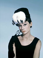 PHOTO DIAMANTS SUR CANAPÉ - AUDREY HEPBURN  (P1) FORMAT 20X27 CM