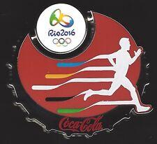COCA-COLA RIO OLYMPICS 2016 PIN MEN'S TRACK