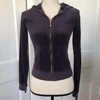 JUICY COUTURE Purple Full Zip Terry Track Sweat Jacket Hoodie Sz  P Womens