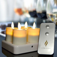 Luminara Rechargeable Moving Wick Led Tealight Flameless Candles for Wedding