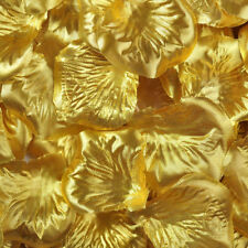 200pcs Silk Rose Petals - Wedding Birthday Celebration Decoration Confetti Metallic Gold