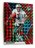 Dan Marino Panini Mosaic Green Red Reactive Prizm #123 MIami Dolphins NFL