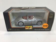 Plymouth Pronto Spyder Maisto Silver 1:24 NIB Die Cast Metal with Plastic Parts