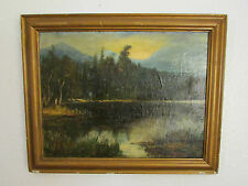 19th Century Original Oil Painting On Canvas/Board' Mosern See',By J. F.Williams