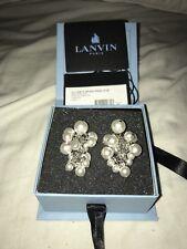 100% AUTHENTIC Lanvin Pearl Earrings