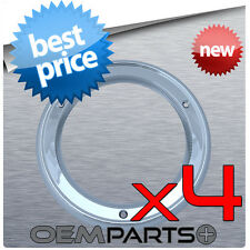 """4Pc New 4"""" Round Chrome Bezel for LED Light Reverse Brake Truck Trailer Cover"""