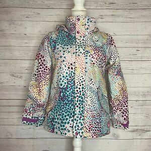 Burton Girls Multicolor Dry Ride Room To Grow Polka Dot Ski Jacket Size Medium