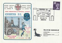 23 AUGUST 1975 CHESTER  v SOUTHEND UNITED DIV 3 DAWN FOOTBALL COVER a