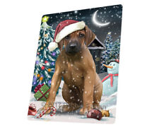 Jolly Christmas Rhodesian Ridgeback Dog Tempered Cutting Board Large Db552