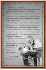 Ernest Hemingway Motivational Quotes Fabic Silk Poster 13inx20in Home Wall Decor