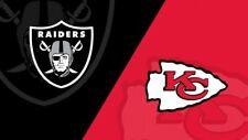 2 Tickets - Sec 421/Row 8 - Raiders vs Chiefs 11/22/20 - Week 11 SNF in Vegas!