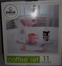 KidKraft  11 Pieces Coffee Set  Fun for Kids to play Coffee Time