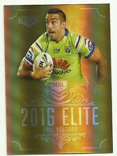 2016 NRL CANBERRA RAIDERS PAUL VAUGHAN SG022 Elite Gold Special PARALLEL Card