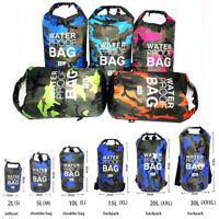 PVC Waterproof Dry Bag 5L 10L 20L 30L Camo Outdoor Diving Foldable Man Women Bea
