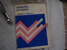 Honda Owners Manual EX650 Generator 1984