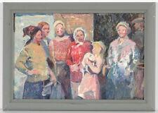 "Michail Andreichuk (b.1927), ""Kolkhozniks"", Oil Painting, 1960s"