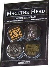 MACHINE HEAD BROOCH BROOCHES OFFICIAL BADGE