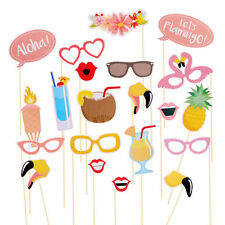 Summer 21pcs Photo Luau for Party Props Hawaii Themed Photo Booth Prop Holiday