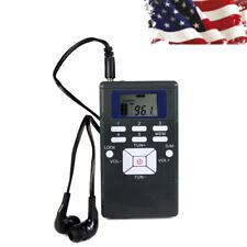 Mini Portable DSP Stereo FM Radio Digital Clock Receiver 60-108MHz + Earpiece US