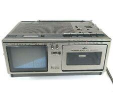 Vintage Portable B&W TV Radio Cassette Hitachi K-2400, TP-120