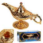 Metal Carved Aladdin Lamp Magic Vintage Home Tea Oil Pot Arabian Art Craft Gift