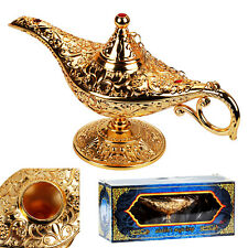 Metal Carved Aladdin Lamp Magic Vintage Home Tea Oil Pot Arabian Art Craft Gift