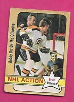 1972-73 OPC # 58 BRUINS BOBBY ORR ACTION GOOD CARD (INV# C3582)