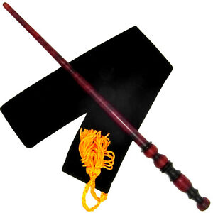 "13.75"" Time Turner Hand Turned Mahogany Wood Magic Wand Witch Wizard w/Free Bag"