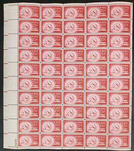C44 Stratocruiser & Globe MNH Sheet CV $39.50 Face Value $12.50