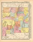 1899 Antique NEW MEXICO State Map Gallery Wall Art Map of New Mexico Map 9433