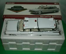 1/18 Scale 1959 Cadillac Superior Ambulance Diecast Car Greenlight PC18004 White