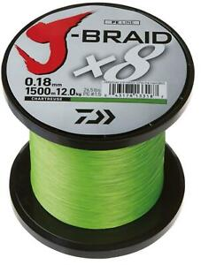 Daiwa J Braid x8 1500m Chartreuse