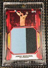 "2020 Topps UFC/Knockout ~ JORGE MASVIDAL (#2/8) ""RUBY/RED""! JUMBO MAT RELIC!💥💥"