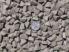 "Ceramic Tumbling Media 4 Lbs. 3/8"" X 1/4"" Abrasive Triangle (DF) dense fast-cut"