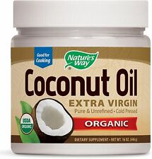 Nature's Way Organic Coconut Oil, Extra Virgin 16 oz (Pack of 2)