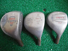 HEADSTRAVAGANZA!  ONYX S2 1-3-5 WOODS (9.5, 13.5, 19.5) RIGHT HAND HEAD ONLY