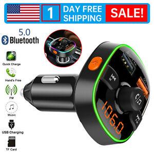 Bluetooth Car FM Transmitter MP3 Player 2USB SD Radio Adapter Cigarette lighter