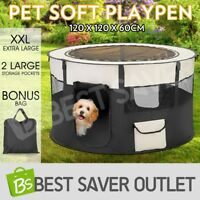 Portable XXL Soft Pet Dog Playpen Cat Puppy Play Round Crate Cage Tent Travel