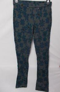 Hue Women's Mod Floral Original Denim Leggings Grey Size XS