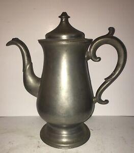 Antique American Pewter Lidded Coffee Tea Pot Boardman & Hart. N.Y. c. 1830's