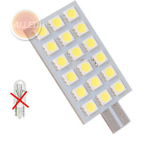 12V LED T10 Replacement Wedge Bulb Signal Tail Cool White Light Caravan Globe