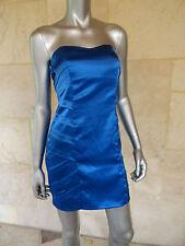 BCX New Blue Satin Strapless Clubwear Party Prom Mini Dress Sz 3 NWT