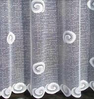 """Buxton Swirl White Net Curtain 36"""" - 81"""" On this Advert - Sold by the Meter"""