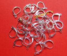15pz ganci orecchini in ottone monachella chiusa  color argento 10x15mm
