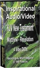 4 DVDs Audio Bible NT 8200 Photos on screen KJV text