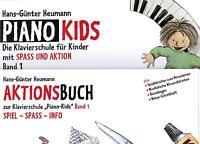 Klavier Noten : Piano Kids 1 Schule + Aktionsbuch 1 (Heumann) Anfänger s. leicht