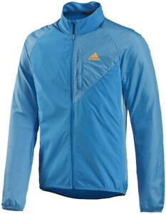 adidas Tour Commuter Mens Cycling Jacket Blue Bike Cycle Ride Winter Coat
