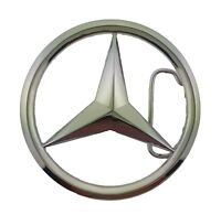 New Mercedes Benz Car Logo Belt Buckle Silver Metal Men German Vehicle Fashion
